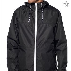 Zine Marathon Windbreaker Hooded Jacket Black
